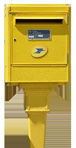 Photo boîte postale jaune
