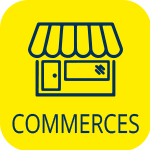 Lampaul-Guimiliau, picto commerces